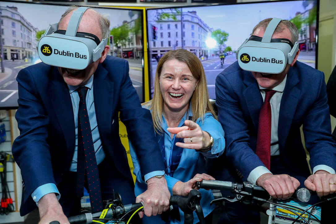 Dublin Bus Drivers Cycle the Capital's Streets